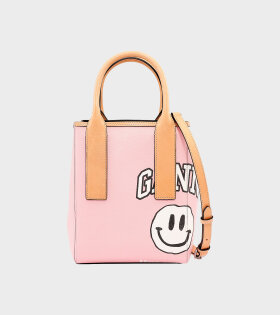 Ganni - Coated Canvas 1 Bag Pink
