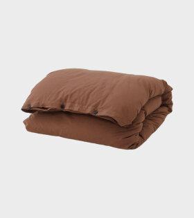 Tekla - Percale Duvet 140x200 Cocoa Brown