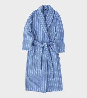 Classic Bathrobe Marseille Blue