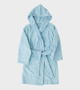 Hooded Bathrobe Aqua Blue