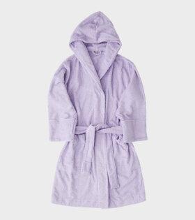 Hooded Bathrobe Lavender Purple