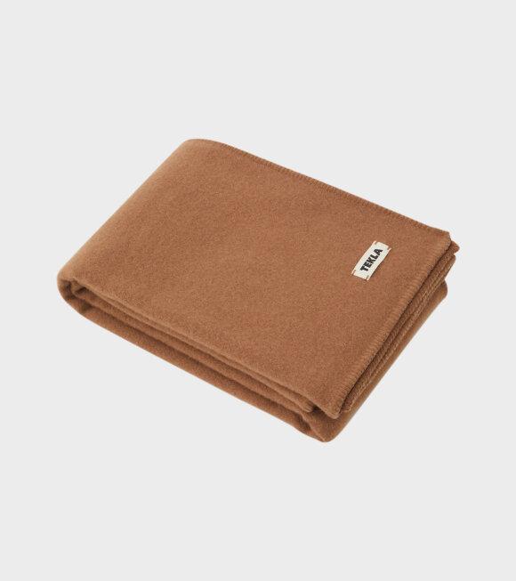Tekla - Pure New Wool Blanket Camel Brown