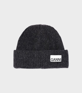 Ganni - Recycled Wool Knit Hat Grey