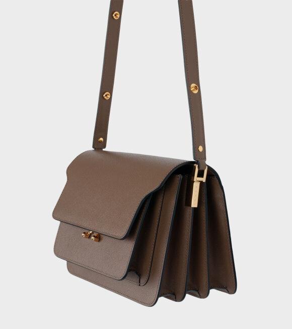 Marni - Medium Trunk Bag Saffiano Cigar