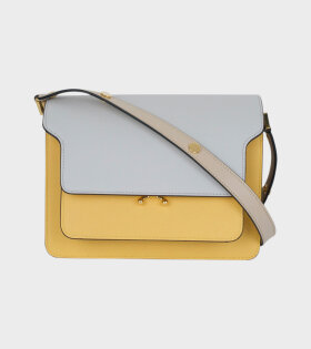 Marni - Medium Trunk Bag Grey/Yellow/Beige