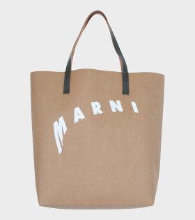 Marni - Large Shopping Tote Bag Brown