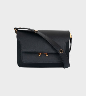Marni - Mini Trunk Saffiano Bag Black
