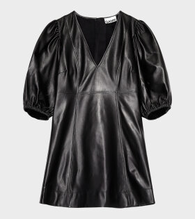 Ganni - Lamb Leather Dress Black