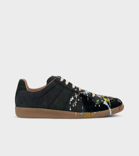 Replica Painted Sneakers Black
