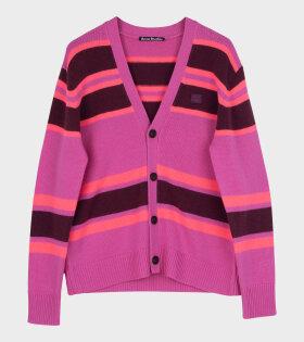 Kimano Block Stripe Cardigan Pink
