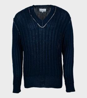 V-neck Knit Navy