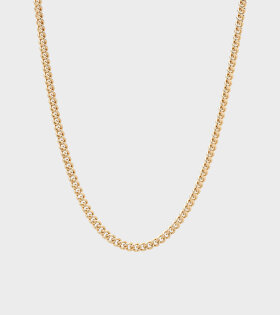 Tom Wood - Rounded Curb Chain Thin Gold