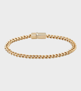 Tom Wood - Rounded Curb Bracelet Thin Gold