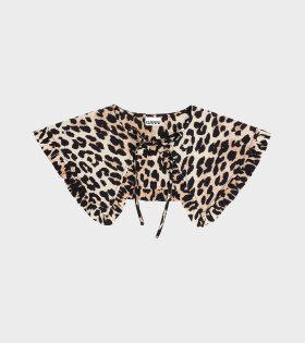 Ganni - Collar Leopard