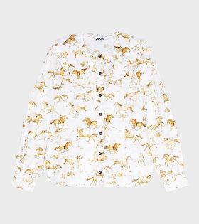 Ganni - Printed Shirt Cognac