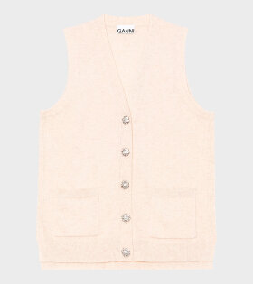 Ganni - Cashmere Knit Vest Brazillian Sand