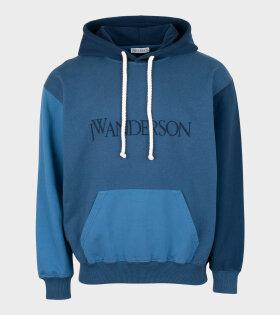 JW Anderson - Color Block Hoodie Navy