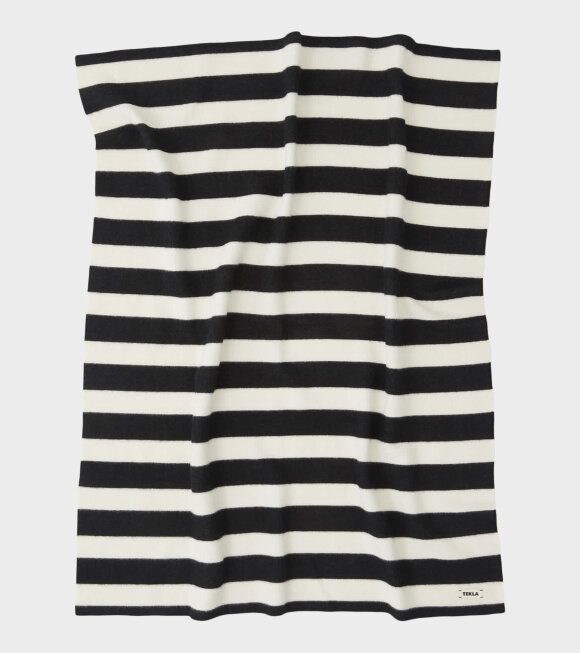Tekla - Pure New Wool Blanket Bold Black