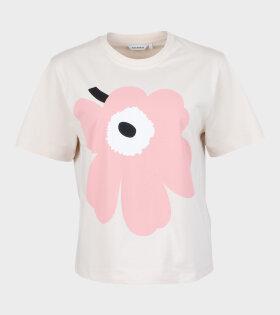 Marimekko - Vaikatus Unikko T-shirt Beige