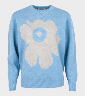 Marimekko - Aksiooma Unikko Knit Light Blue