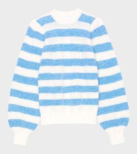 Ganni - Soft Wool Knit Heather Blue