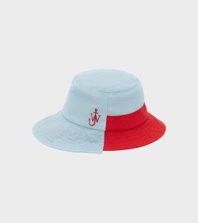 Asymmetric Bucket Hat Blue/Red