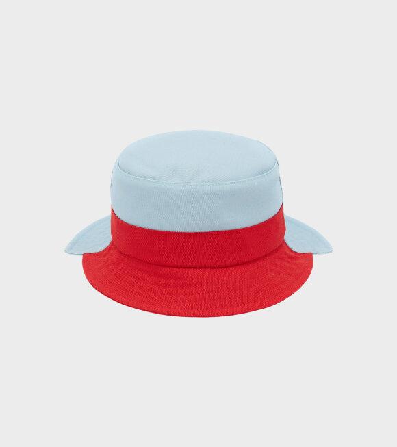 JW Anderson - Asymmetric Bucket Hat Blue/Red
