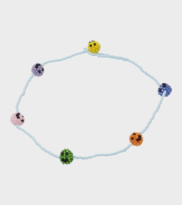 Pura Utz - Smiley Multi Necklace Blue