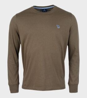 Paul Smith - Multicolour Zebra LS T-shirt Green
