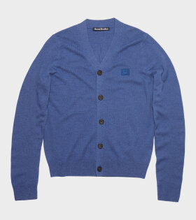 Keve GD Face Cardigan Dusty Blue