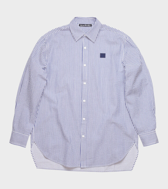 Acne Studios - Saco New Stripe Face Shirt Blue