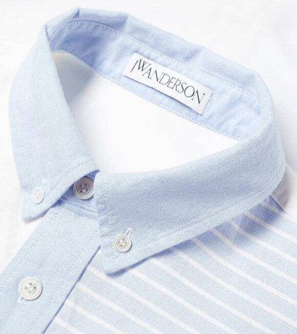 JW Anderson - Relaxed Patchwork Shirt Light Blue