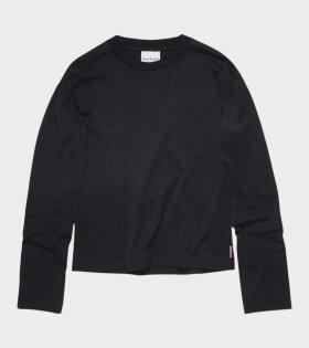 Ecca Pink Label LS T-shirt Black