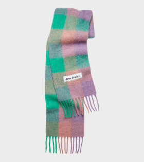Vally Scarf Lilac Purple/Green/Pink