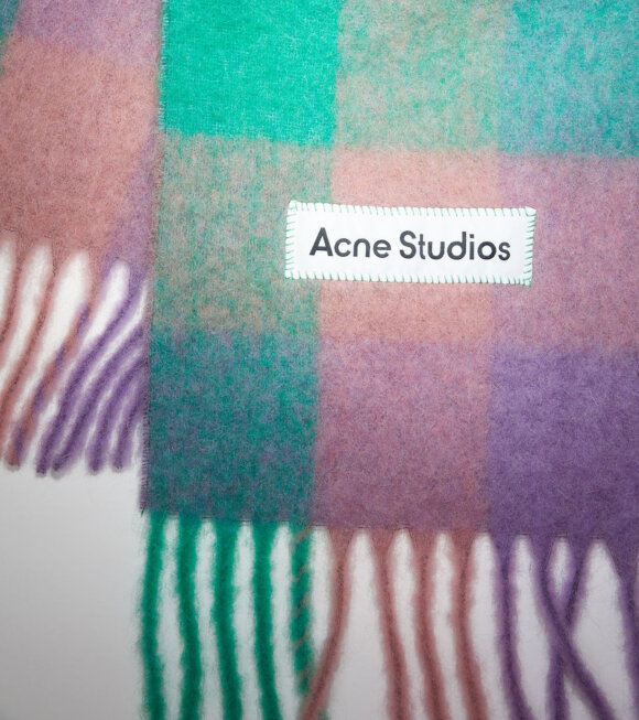 Acne Studios - Vally Scarf Lilac Purple/Green/Pink