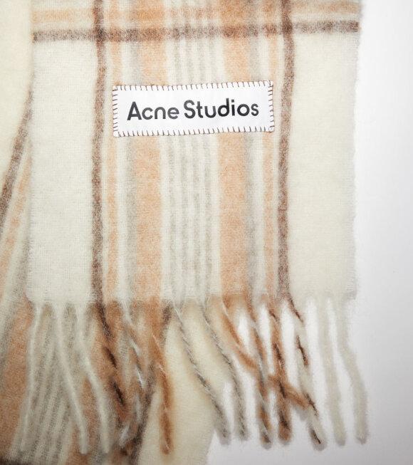 Acne Studios - Vally Tartan Scarf Beige