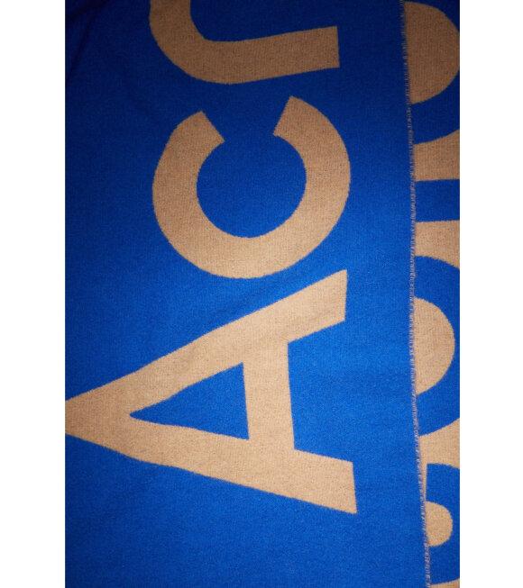 Acne Studios - Jacquard Logo Scarf Blue/Beige