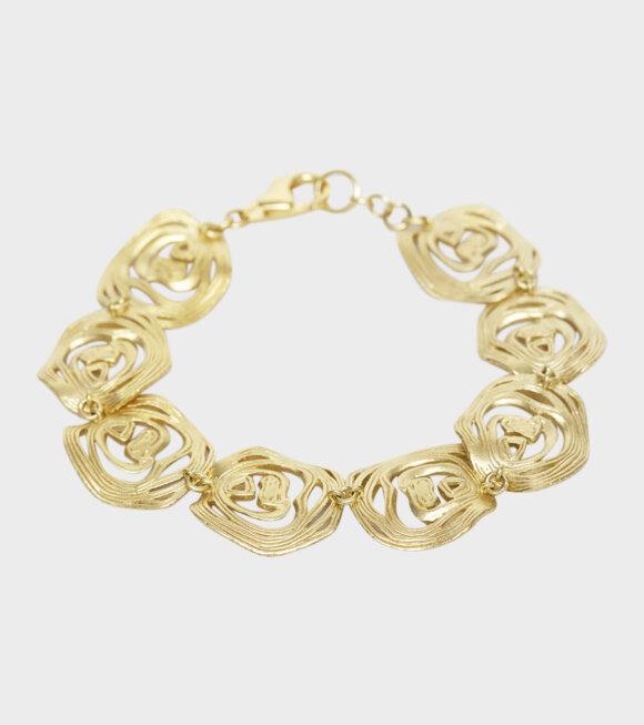 Trine Tuxen - Onion Ring Bracelet Goldplated