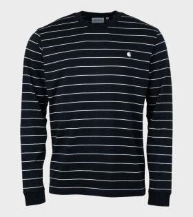 L/S Denton T-shirt Stripe Black