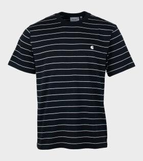 S/S Denton T-shirt Stripe Black