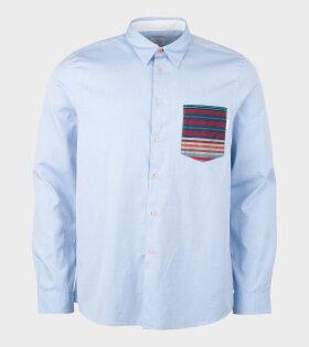 Paul Smith - Mens LS Reg Fit Shirt Contrast Blue