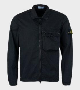 Overshirt Patch Jacket Black
