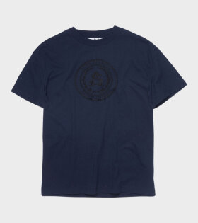 Extorr Embroidered T-shirt Navy