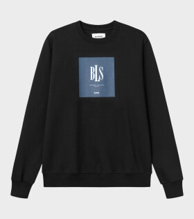 BLS - Navy Box Crewneck Black
