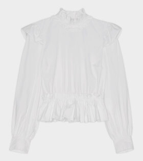 Ganni - Cotton Poplin Shirt White