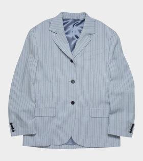 Juylie Pinstripe Suit Blue