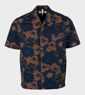 Soulland - Pappy SS Shirt Navy Flower