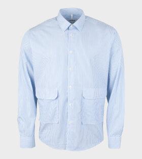 Soulland - Niel Shirt White/Blue Stripes