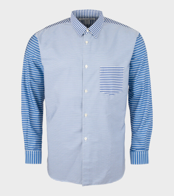 Comme des Garcons Shirt - Striped Shirt Dark Blue/White