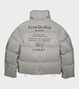 Acne Studios - Orlin Co Stripe Jacket Dark Grey